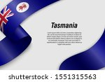 waving ribbon or banner with... | Shutterstock .eps vector #1551315563