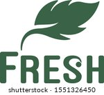 f  leaf logos with green... | Shutterstock .eps vector #1551326450