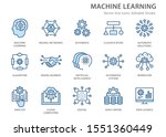 machine learning line icons... | Shutterstock .eps vector #1551360449