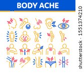 body ache collection elements... | Shutterstock .eps vector #1551374210