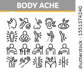 body ache collection elements... | Shutterstock .eps vector #1551374240