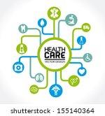 health care design over white... | Shutterstock .eps vector #155140364