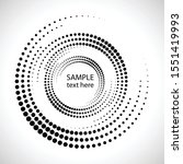 halftone dots in circle form.... | Shutterstock .eps vector #1551419993