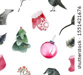 seamless pattern of happy new... | Shutterstock . vector #1551421676