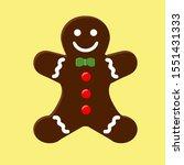gingerbread cookie. vector... | Shutterstock .eps vector #1551431333
