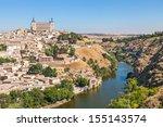 view of toledo with alcazar on... | Shutterstock . vector #155143574