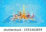 winter travel to world.... | Shutterstock .eps vector #1551463859