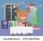 merry christmas celebration fun ... | Shutterstock .eps vector #1551464966