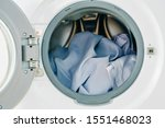 close up white clothes in... | Shutterstock . vector #1551468023