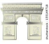 arc de triomphe  | Shutterstock .eps vector #155149718