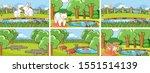 background scenes of animals in ...   Shutterstock .eps vector #1551514139