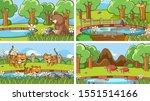 background scenes of animals in ... | Shutterstock .eps vector #1551514166
