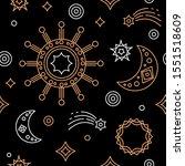 vector space seamless pattern... | Shutterstock .eps vector #1551518609
