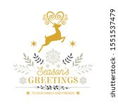 merry christmas. holiday... | Shutterstock .eps vector #1551537479