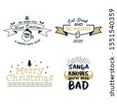 funny merry christmas graphic... | Shutterstock .eps vector #1551540359