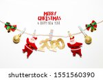 christmas and happy new year... | Shutterstock . vector #1551560390