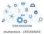 stem concept. science ...   Shutterstock . vector #1551565643