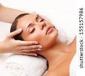 face massage.  close up of a... | Shutterstock . vector #155157986