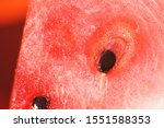 Slice Of Watermelon On Orange...