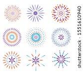 festive fireworks. celebration... | Shutterstock .eps vector #1551610940
