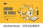 travel around the world... | Shutterstock .eps vector #1551628829