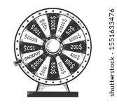 wheel of fortune machine...   Shutterstock .eps vector #1551633476