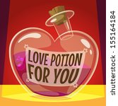 love potion for you. vector... | Shutterstock .eps vector #155164184