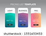 subscription plans template...   Shutterstock .eps vector #1551653453