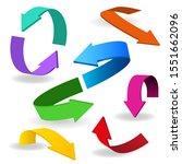 colorful arrow symbols. arrow...   Shutterstock .eps vector #1551662096