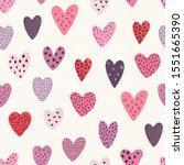 heart seamless pattern  vector... | Shutterstock .eps vector #1551665390