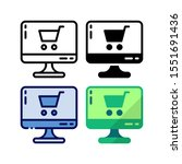 computer shop icon. with...