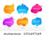 set of abstract modern graphic... | Shutterstock .eps vector #1551697169