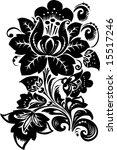 illustration with black flower...   Shutterstock .eps vector #15517246