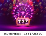 casino neon colorful fortune... | Shutterstock .eps vector #1551726590