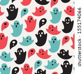 funny ghost seamless pattern | Shutterstock .eps vector #155174066