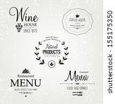 restaurant labels set  vector...   Shutterstock .eps vector #155175350