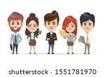 business people working in... | Shutterstock .eps vector #1551781970