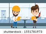 engineer and mechanics and... | Shutterstock .eps vector #1551781973