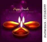 stylish diwali festival vector... | Shutterstock .eps vector #155182499