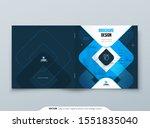 blue brochure design. a4 cover...   Shutterstock .eps vector #1551835040