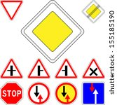 set of road signs priority | Shutterstock . vector #155185190