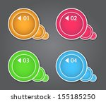 set of bubbles  stickers ... | Shutterstock .eps vector #155185250