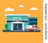 hospital building with... | Shutterstock .eps vector #1551860966