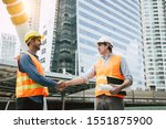 Engineer Boss Get Handshake ...