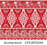 red and white vector seamless...   Shutterstock .eps vector #1551892046