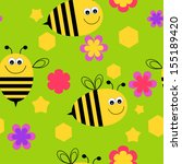 bee background | Shutterstock .eps vector #155189420