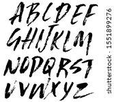 hand drawn dry brush font.... | Shutterstock .eps vector #1551899276
