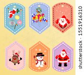 collection of christmas... | Shutterstock .eps vector #1551916310