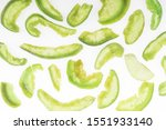 top view of green sugary... | Shutterstock . vector #1551933140