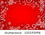 illustration of a red christmas ... | Shutterstock . vector #155193998